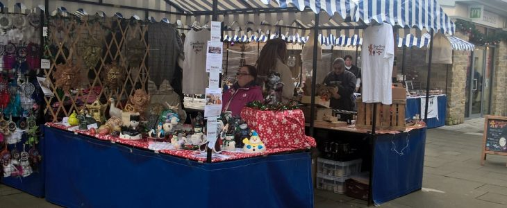 The Fired Up Ceramics stall at Hatherell's Yard Market
