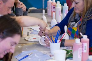 Fired Up ceramics painting workshop