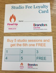 Studio fee loyalty card