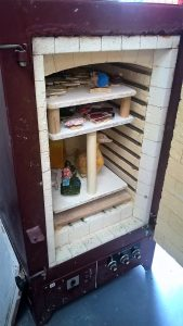 The kiln at Fired Up Ceramics studio